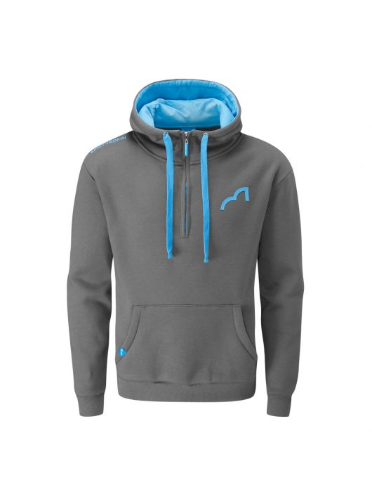 Spotted Fin Blue/Grey Quarter Zip Hoody Large