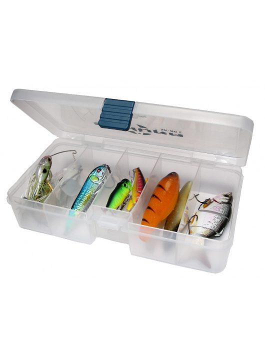 Sakura SK-80L szerelékes doboz / műcsalis doboz / 21,4 x 11,8 x 4,5 / víztiszta szín