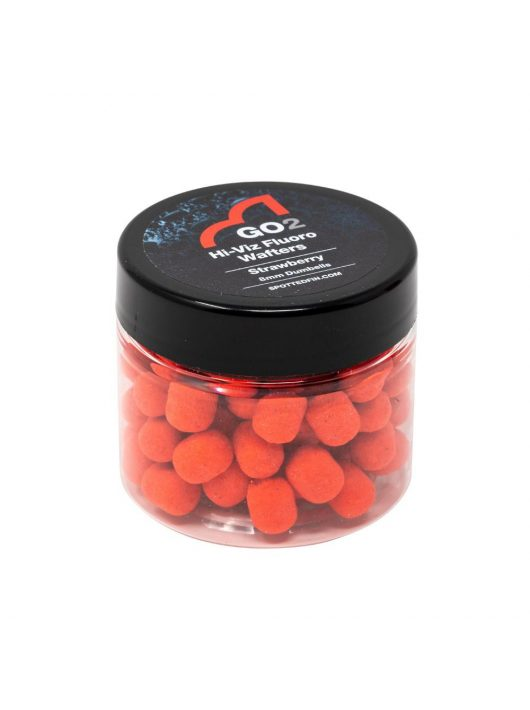 Spotted Fin GO2 Hi-Viz 8mm Fluoro Wafter Strawberry