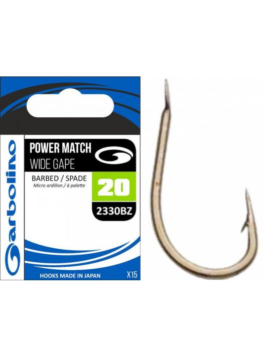Garbolino 2330BZ  14 horog / POWER MATCH / WIDE GAPE