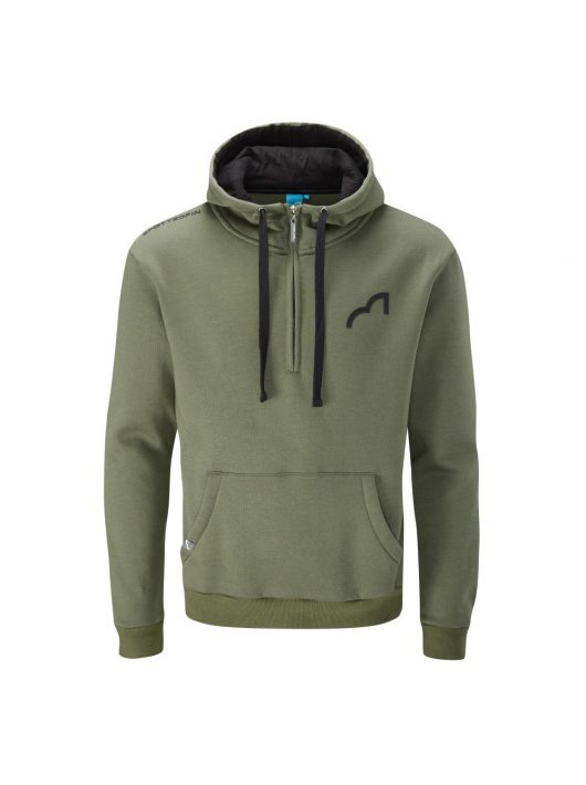 Spotted Fin Khaki Quarter Zip Hoody Large