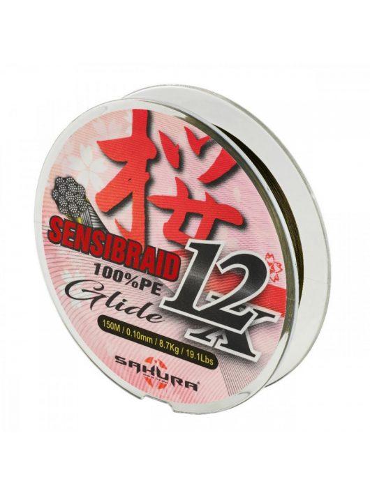 Sakura Sensibraid 12 - fonott zsinór - Green 150 M - 0.12 Mm / 10Kg / 22Lbs