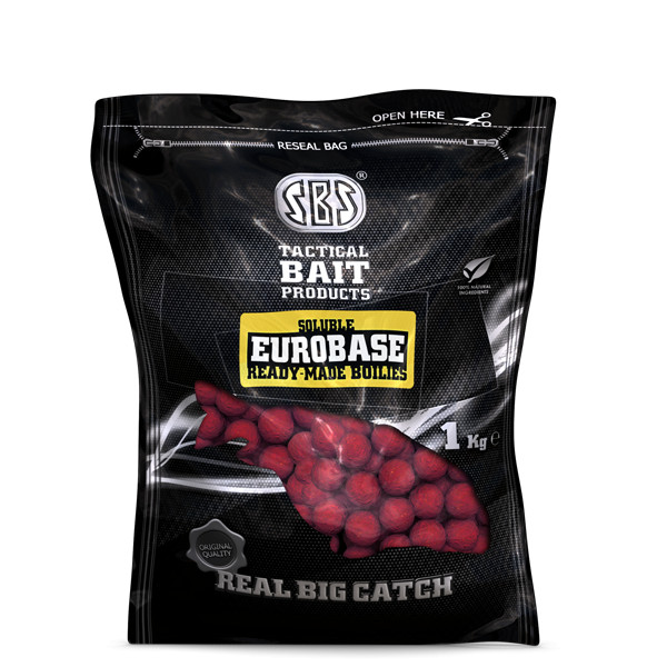 Soluble Eurobase Ready-Made Boilies Krill 24Mm/1Kg